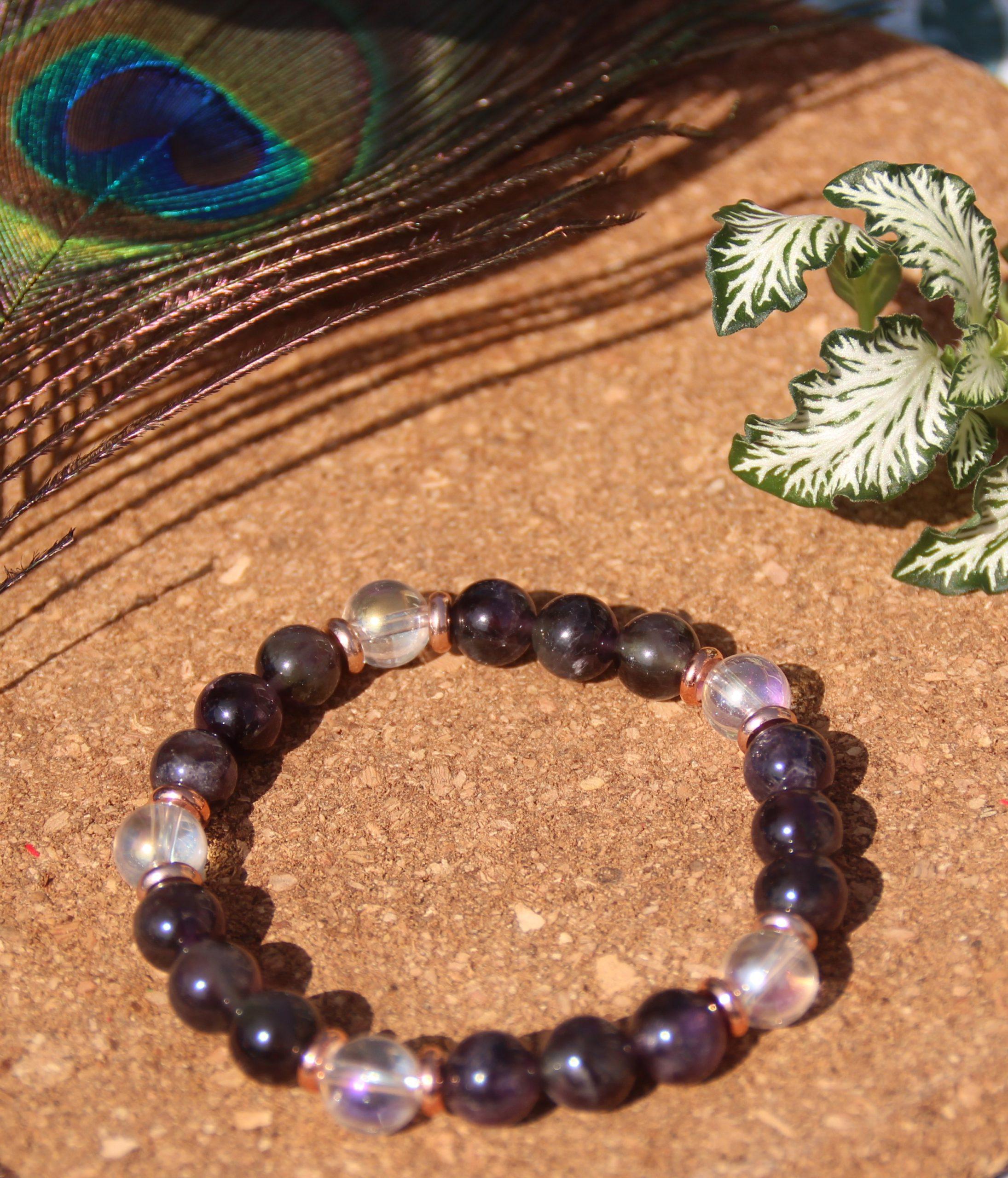 bracelet-pierre-naturelle-quartz-aqua-aura-et-amethyste-fabrication-artisanale-shiva-esoterisme-halluin-menen-lille-france