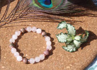 bracelet-pierre-naturelle-quartz-rose-rhodonite-fabrication-artisanale-shiva-esoterisme-lithotherapie-halluin-menen-france-belgique